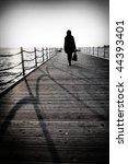 Walking Woman On The Pier In...