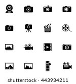 camera icons | Shutterstock .eps vector #443934211