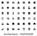 building icons | Shutterstock .eps vector #443934289