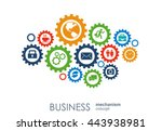 business mechanism concept.... | Shutterstock .eps vector #443938981