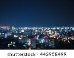 Blurred Focus Of Big City In...
