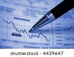 pen showing diagram on magazine ... | Shutterstock . vector #4439647
