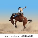 Bucking Rodeo Horse Isolated...