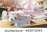 stacks of paper | Shutterstock . vector #443973595