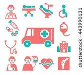 ambulance  medical  emergency...   Shutterstock .eps vector #443990131