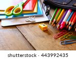 back to school concept. writing ... | Shutterstock . vector #443992435
