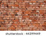 Old weathered brick wall background texture - stock photo