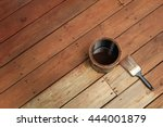 partially stained deck  a can... | Shutterstock . vector #444001879
