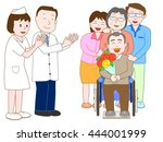 a doctor and the nurse who... | Shutterstock .eps vector #444001999