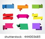 set of paper banners.vector... | Shutterstock .eps vector #444003685