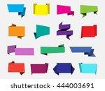 set of paper banners.vector... | Shutterstock .eps vector #444003691