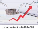 coin for investment in stock... | Shutterstock . vector #444016009