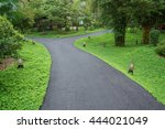 walkway in park after rain | Shutterstock . vector #444021049