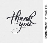 thank you   card  background ... | Shutterstock . vector #444031141