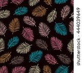 tropical trendy seamless... | Shutterstock .eps vector #444039649