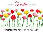 seamless horizontal border of... | Shutterstock .eps vector #444042034