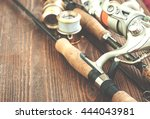 fishing gear   fishing spinning ... | Shutterstock . vector #444043981