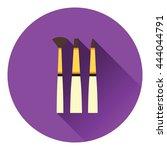 paint brushes set icon. flat...