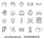 virtual reality icon set in... | Shutterstock .eps vector #444048445