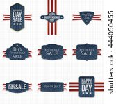 fourth of july patriotic labels ... | Shutterstock .eps vector #444050455