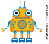 colorful toy robot. cartoon... | Shutterstock . vector #444055225
