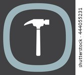 hammer sign vector icon. repair ...
