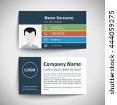 modern simple business card set ... | Shutterstock .eps vector #444059275