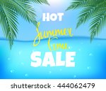 summer time hot sale poster.... | Shutterstock .eps vector #444062479