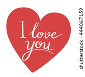 i love you. valentines day... | Shutterstock .eps vector #444067159