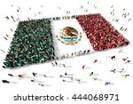 large and diverse group of... | Shutterstock . vector #444068971