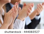 close up view of business... | Shutterstock . vector #444083527