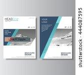 blue brochure design  annual... | Shutterstock .eps vector #444087595