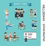 university student vector... | Shutterstock .eps vector #444087784