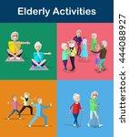 recreation and activities for... | Shutterstock .eps vector #444088927