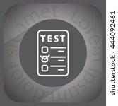 line checkmark icon | Shutterstock .eps vector #444092461