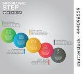 5 steps infographic design... | Shutterstock .eps vector #444096559