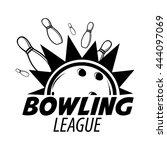 bowling emblems  labels  badges ...   Shutterstock .eps vector #444097069
