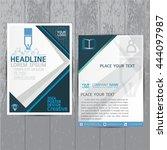 brochure flyer layout in a4...   Shutterstock .eps vector #444097987