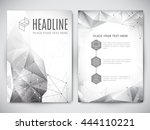 geometric polygonal design of... | Shutterstock .eps vector #444110221