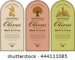 set of labels for black and... | Shutterstock .eps vector #444111085