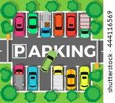 city parking vector. shortage...   Shutterstock .eps vector #444116569