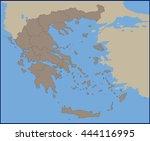 empty political map of greece | Shutterstock .eps vector #444116995