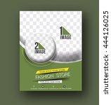 shopping center store flyer  ... | Shutterstock .eps vector #444126025
