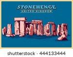 Vintage Poster Of Stonehenge In ...