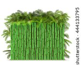 Vector Green Bamboo Fence With...