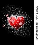 valentines day design black....   Shutterstock .eps vector #44413537
