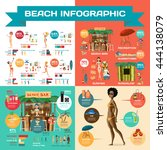 vector infographic set flat... | Shutterstock .eps vector #444138079
