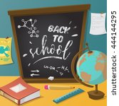 back to school. collection of... | Shutterstock .eps vector #444144295