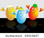 the comic image of three easter ... | Shutterstock .eps vector #44414647