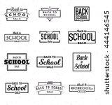 back to school calligraphic... | Shutterstock .eps vector #444146545